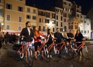 Rom bei Nacht: Pizza und Bike Private Tour