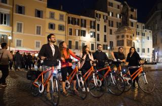 Rom bei Nacht: Pizza und Bike Private Tour