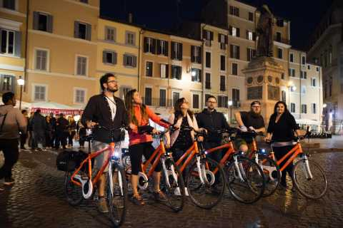 Rome by Night: Pizza and Bike Private Tour