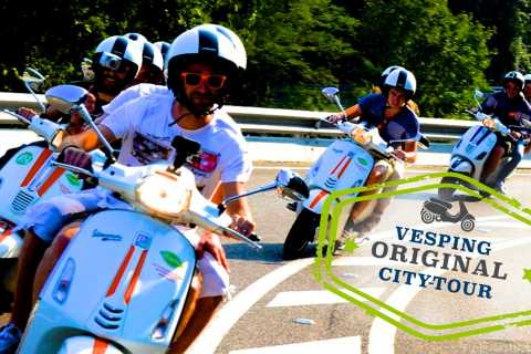 Barcelona: 4-Hour City Highlights Tour by Vespa Scooter