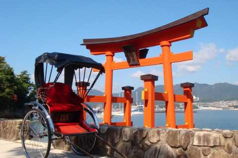 Miyajima: Private Rickshaw Tour to Itsukushima Shrine