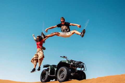 Dubaï: visite à vélo des dunes rouges avec balade à dos de chameau et barbecue