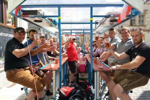 Pilsen: 1.5-Hour Beer Bike with Unlimited Beer