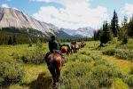 Canadian Rockies Combo: Helicopter Tour and Horseback Ride