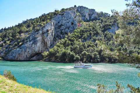 From Split: Krka Waterfalls Tour by Bus with 30-Min Cruise