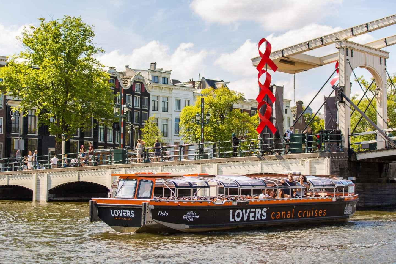Amsterdam: Fahrt mit halboffenem Grachtenboot
