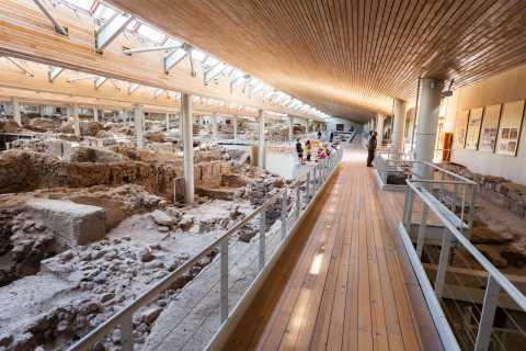 Archaeological Bus Tour To Akrotiri Excavations & Red Beach