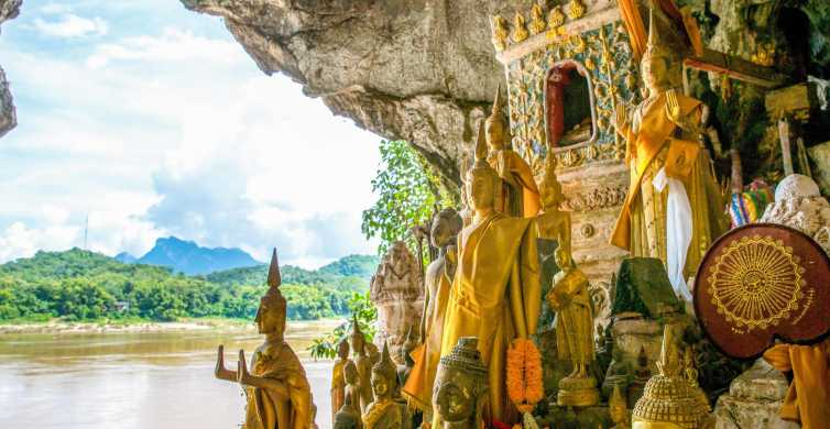 Pak Ou Caves, Whisky Village & Kuang Si Falls Day Trip