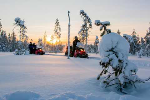 Lapland Snowmobile Safari para uma fazenda de renas
