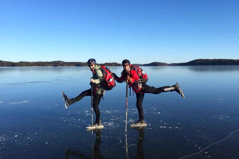 Stockholm: Einführung ins Schlittschuhlaufen auf Natur-Eis