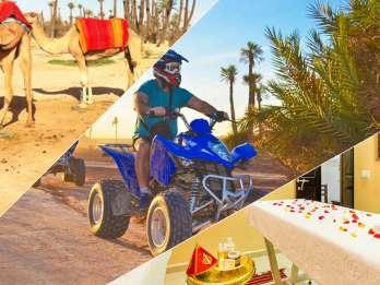 Marrakesch: Tagestour mit Kamelreiten, Quad und Spa