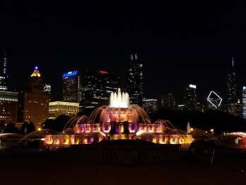 Chicago: 1,5-stündige Open-Top-Doppeldecker-Nachttour