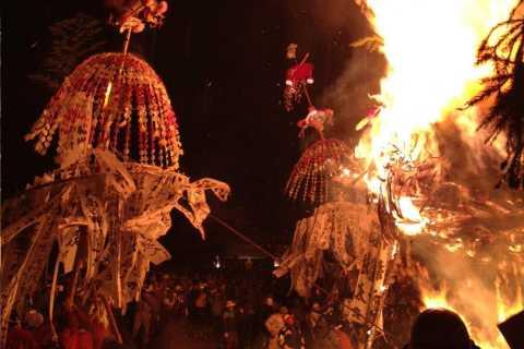 Nozawa: Full-Day Fire Festival & Snow Monkey Tour on Jan 15