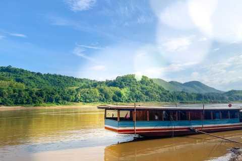 Luang Prabang: Pak Ou Caves Kuang Si Falls by Slow Boat