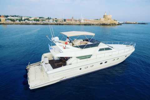 From Rhodes Town: Private Yacht Cruise to Lindos with Lunch