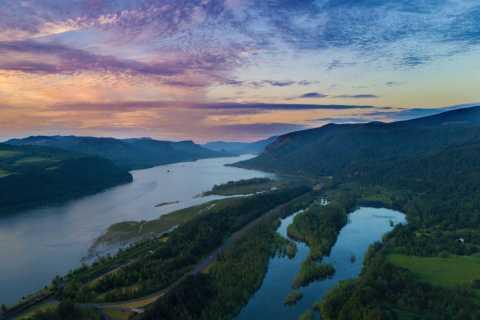 Portland: Columbia Gorge Waterfalls 40-minütiger Rundflug