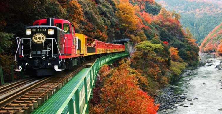 Kyoto: Arashiyama Sagano Romantic Train and Hozu River Boat