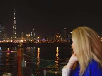 Dubai Canal: Luxus-Dinner-Bootsfahrt mit Transfer-Optionen
