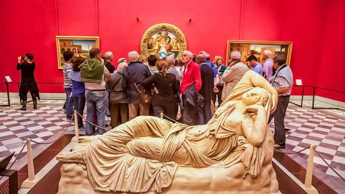 Florencia: entrada programada para la Galería Uffizi