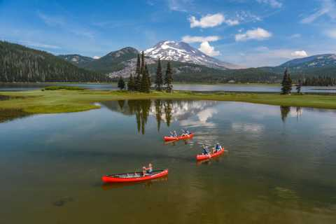 Bend: Half-Day Brews & Views Canoe Tour on the Cascade Lakes