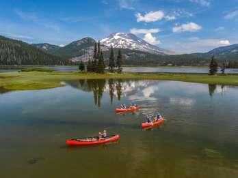 Bend: Halbtägige Brews & Views-Kanutour auf den Cascade Lakes