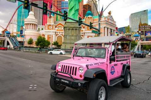 Las Vegas Strip Jeep Tour and High Roller Ferris Wheel