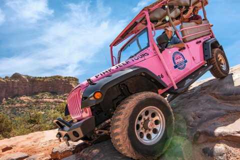 Sedona: Broken Arrow and Scenic Rim Combo Pink Jeep Tour