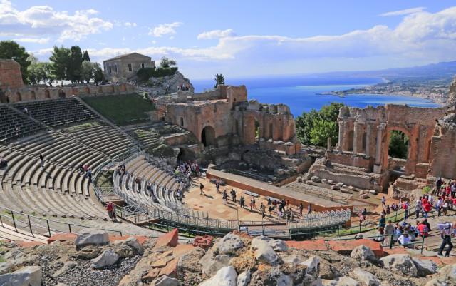 Van Tropea: dagtour naar Taormina op Sicilië