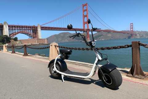 San Francisco: Golden Gate Bridge e tour in scooter GPS posteriore