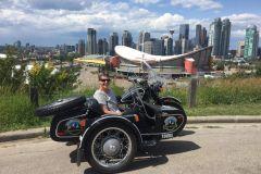 Calgary: City Tour pela moto de Sidecar estilo vintage