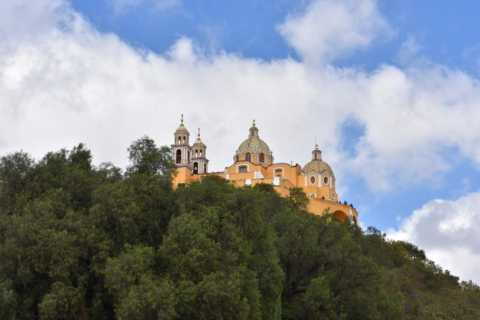 From Puebla: Cholula Pyramid and Churches Half-Day Tour