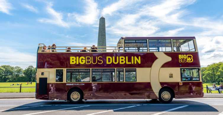 Dublin: Sightseeing-Tour mit dem Open-Top-Hop-On/Hop-Off-Bus