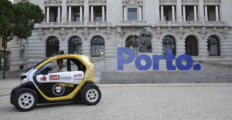 Porto: tour della città in auto elettrica di 2 ore in auto elettrica con GPS