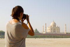 Taj Mahal: excursão em grupo compartilhada com traslado de Nova Délhi