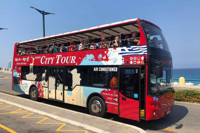Rhodos: Tour mit dem Hop-On/Hop-Off-Sightseeingbus
