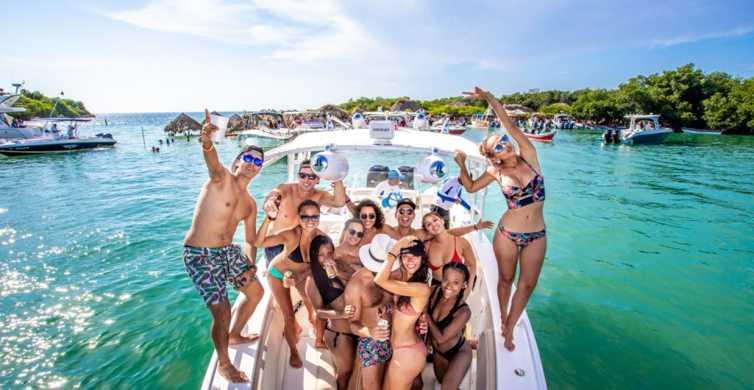 Cartagena: fiesta en barco a la Isla Cholón