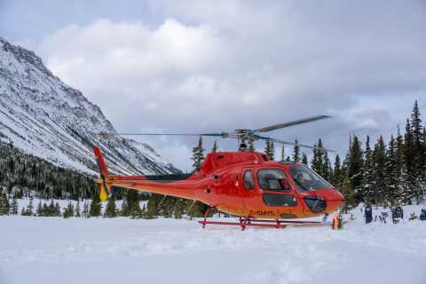 Canadian Rockies: Scenic Winter Helicopter & Snowshoe Tour