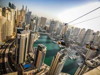 Dubai: Fahrt mit der Zipline über die Marina