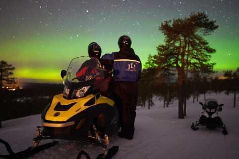 Rovaniemi: caça às motos de neve da aurora boreal