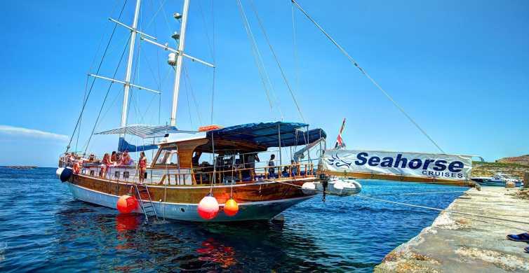 Malta: barco a Gozo, Comino y el Lago Azul