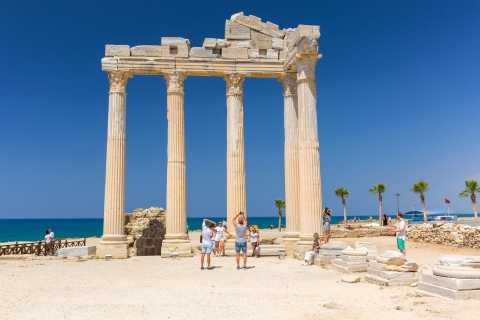 From Antalya: Perge, Side, Aspendos & Waterfalls Guided Tour