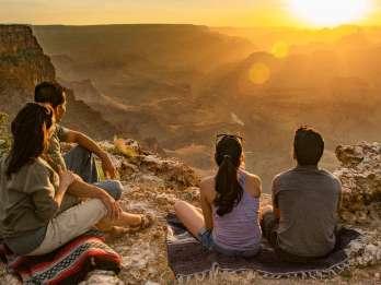 Tusayan: Sonnenuntergangs-Tour Hermit's Rest am Grand Canyon