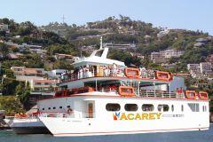 Cruzeiro do por do sol da baía de Acapulco