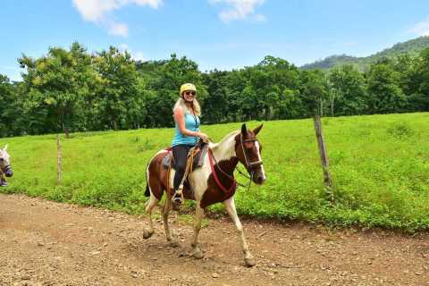 Jacó: Ziplining, Horseback Tour and Waterfalls Combo
