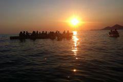 Dubrovnik: Excursão de caiaque no mar ao pôr do sol de 3 horas