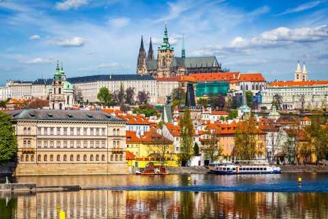 Praga: tour a pie de 1 día y paseo en barco por el río