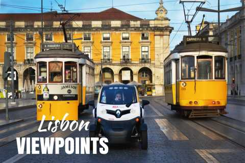 Lisbon: 3-Hour Viewing Points Tour by Self-Guided E-Car