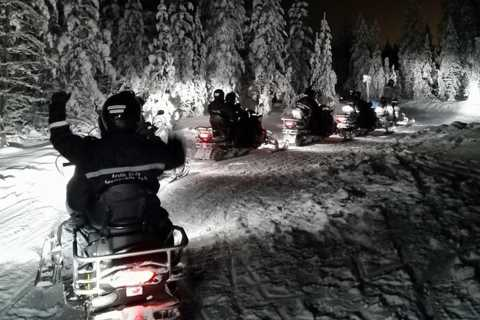 From Rovaniemi: Night Snowmobile Safari