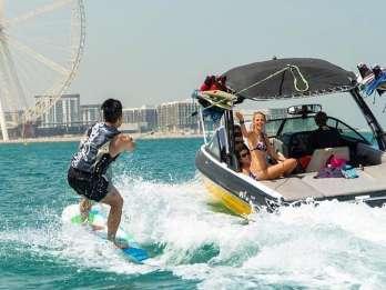 Dubai: Wakeboard-Abenteuer in der Dubai Marina