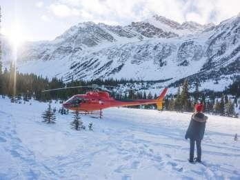 Kanada: Helikopterflug zu den Eisblasen des Abraham Lake